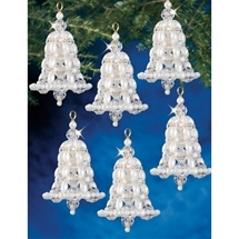Crystal & Pearl Bells Ornament Kit