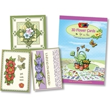 3D Flower Cards Decoupage Book