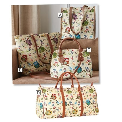 Owl Tapestry Bags