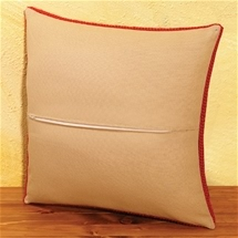 Cushion With Zipper Backing