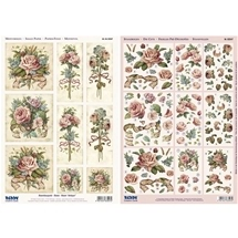 3D Die Cut Cards Antique Roses