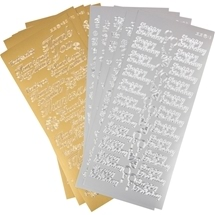 Greeting Stickers - Gold/silver