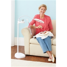 LED Magnifier Floor Lamp With Clip