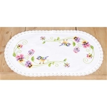 Birds & Pansies Doily
