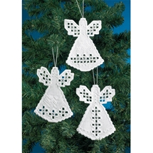 Angel Trio Hardanger Ornaments