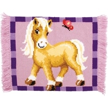 Pony Cross Stitch Rug