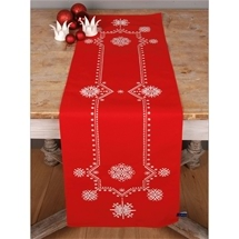 White Crystals Christmas Runner