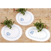 Blue Rose Doilies