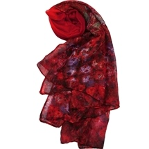 Red Impressionist Scarf
