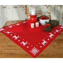 Reindeer with Snowflakes Table Topper