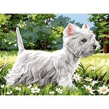 Westie Tapestry Canvas