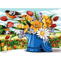 Spring Flowers Tapestry Canvas