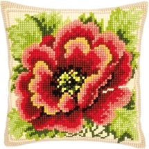 Glorious Poppy Cushion