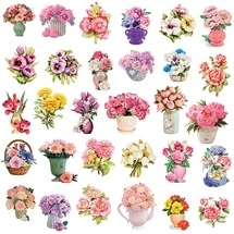 Flower - 3D Decoupage Card Toppers