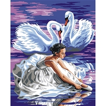 Swan Lake Antique Tapestry Canvas