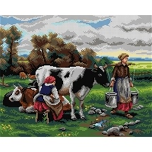 Milking Tapesty Canvas