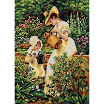 Watering the Garden Tapestry Canvas