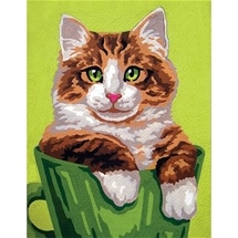 Kitten In Cup Tapestry Canvas