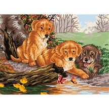 Puppy Fun Tapestry Canvas