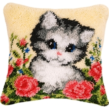 Cat Latch Hook Cushion