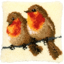 Robins Latch Hook Cushion