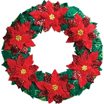 Elegant Poinsettia Wreath