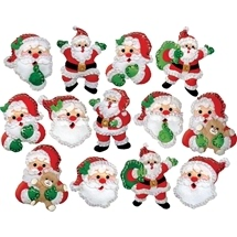Joyful Santa Ornaments
