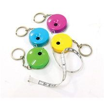 Brights Tape Measure Key Rings