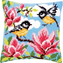 Birds & Magnolia Cushion
