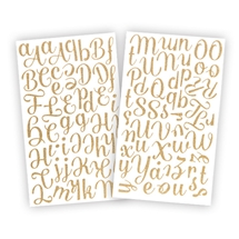 Glamour Stickers - Gold Glitter