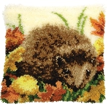 Hedgehog Latch Hook Cushion