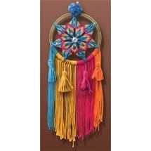 Macrame Rainbow Dreamcatcher