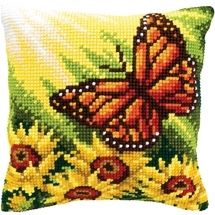 Butterfly & Sunflowers Cushion