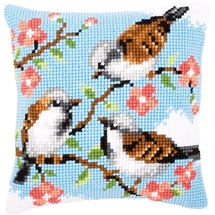 Birds & Flowers Cushion