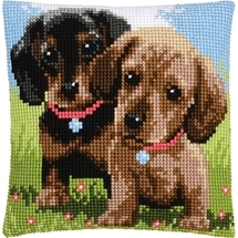 Puppy Pair Cushion