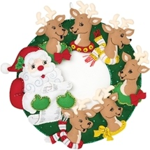 Santa & Reindeer Wreath