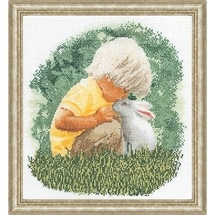 Little Boy With Bunny