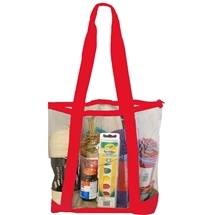Clear Tote Red
