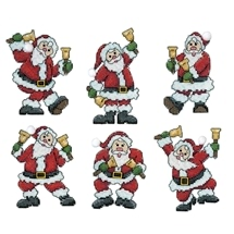 Santa With Bells Ornaments
