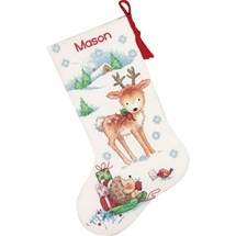Reindeer & Hedgehog Stocking