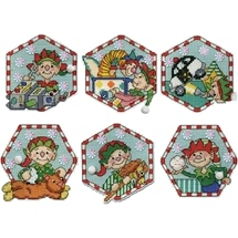 Toy Shop Elves Ornaments