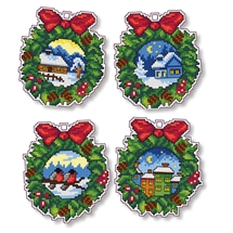 Christmas Wreaths Ornaments