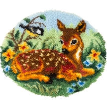 Fawn Latch Hook Rug