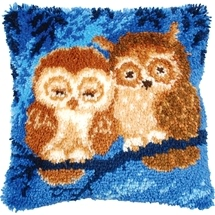 Latch Hook Cushions - Owls
