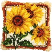 Latch Hook Cushions - Sunflowers