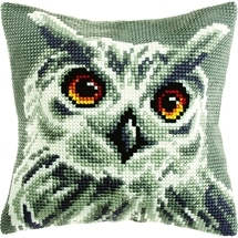 White Owl Cushion