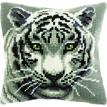 White Tiger Cushion