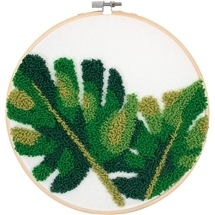 Leaves Punchneedle