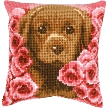 Puppy & Roses Cushion