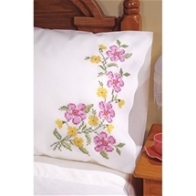 Fragrant Floral Pillowcase Pair